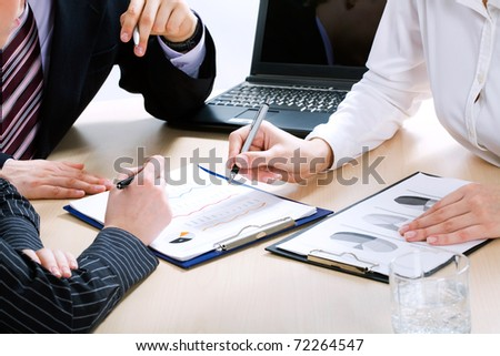Image of business people?s hands during teamwork