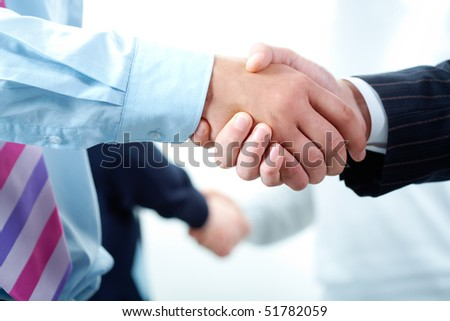 Image of business people?s hands making the agreements