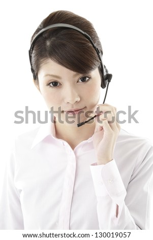 Image of business woman, white back
