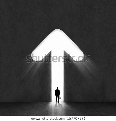image of businessman silhouette ...