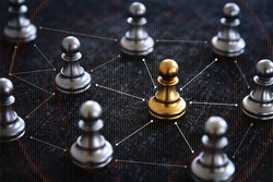 Image of chess game. Business, competition, strategy, leadership and success concept