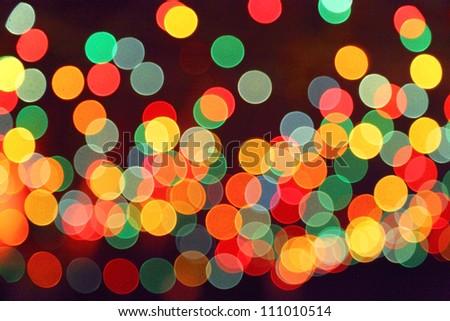 Image of christmas lights bokeh background - stock photo