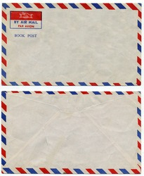image of classic vintage air mail envelope