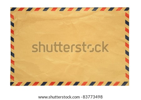 image of classic vintage envelope on white background