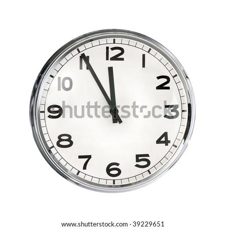 Image of clock isolated on white background #39229651