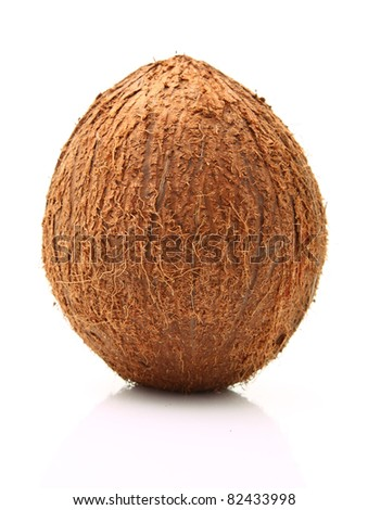 Image of coconut isolated on white