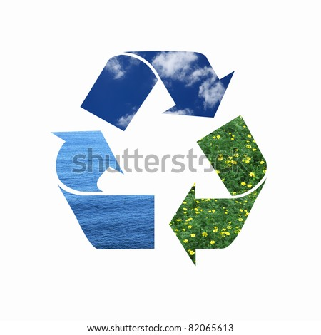 image of colorful eco symbol consisting of three arrows in circle