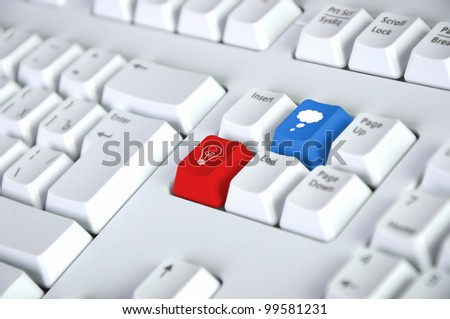Image of computer keyboard with clous symbol on it