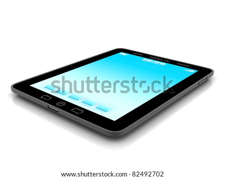 Image of computer technology on a white background isolated