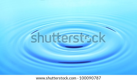 Image of concentric rings on water closeup