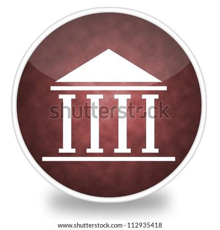 Image of courthouse icon illustration