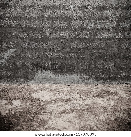 Image of dark concrete wall and floor background