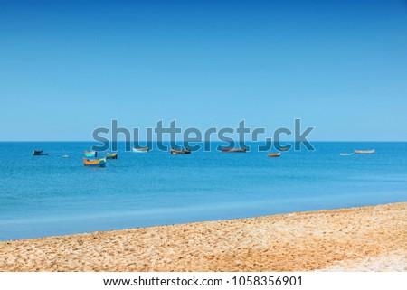 Image Of Dhanushkodi beach, Rameswaram, Tamil Nadu.