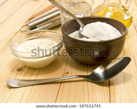 image of different ingredients for cooking closeup