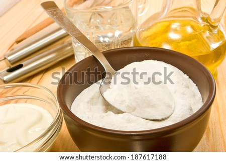 image of different ingredients for cooking on a wooden table