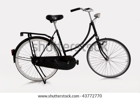 image of Dutch bicycle on white background