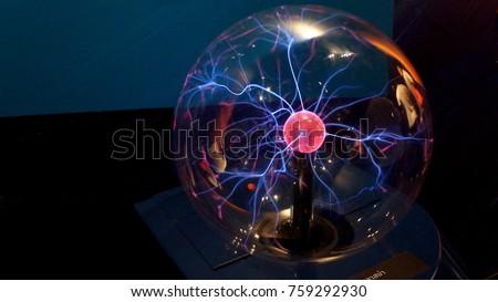 Image of Electric plasma sphere, Lampang, Thailand.  #759292930