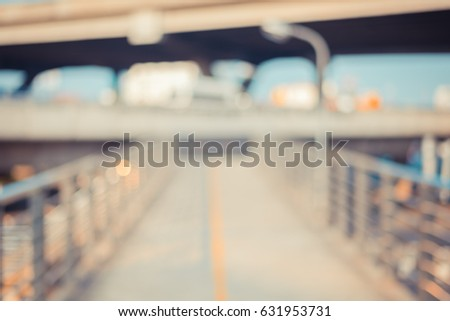 image of empty blur bridge for...