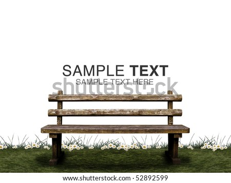 Image of fairy tale CG of bench