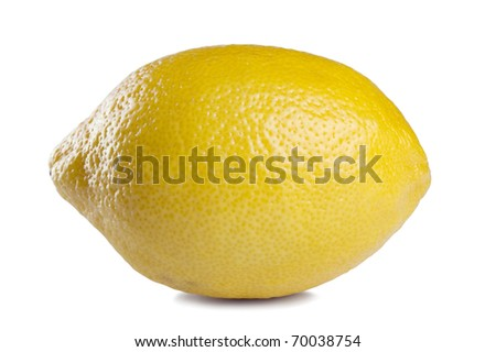 image of Fresh lemon isolated on white background