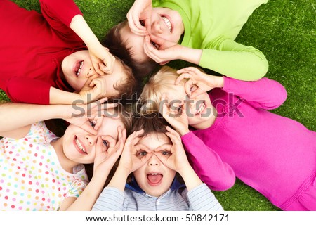 image of funny kids playing on...