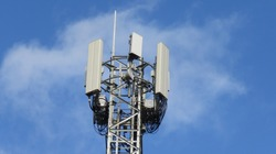 Image of 5G Massive MIMO mast for O2-UK in Cardiff, Wales