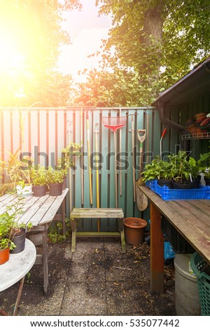 Image of garden potting table #535077442