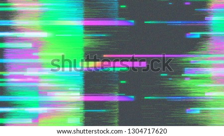 Image of glitched computer screen with datamoshing effect. Virtual reality concept.