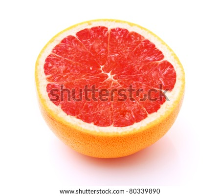 Image of grapefruit isolated on white