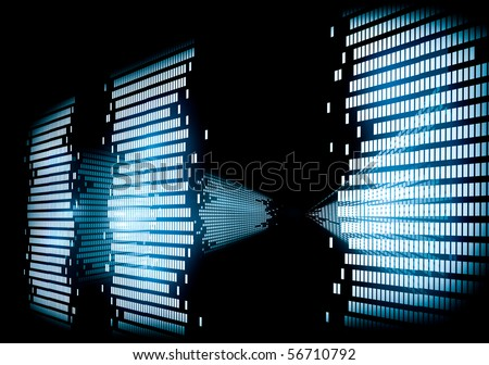 Image Of Graphic 3d Equalizer Stock Photo 56710792 ...