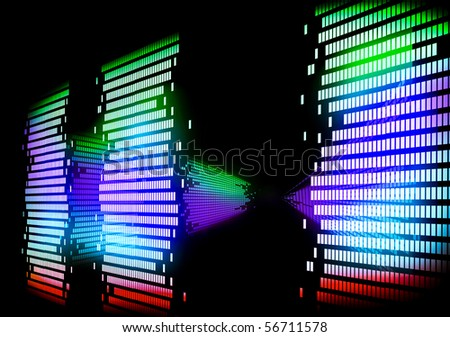 Image Of Graphic 3d Equalizer Stock Photo 56711578 ...