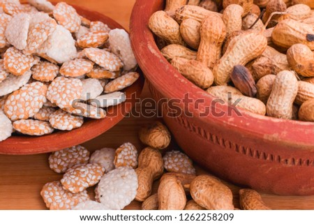 Image of groundnuts and sesame
