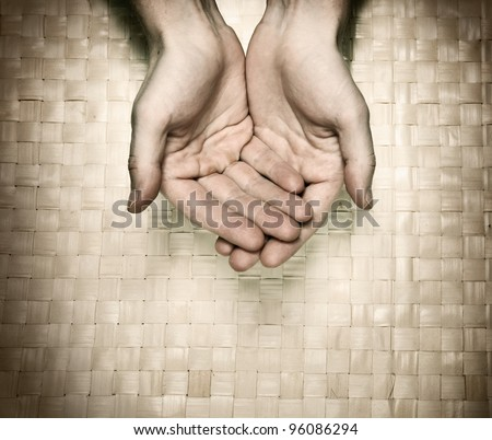 Image of hands asking for beg