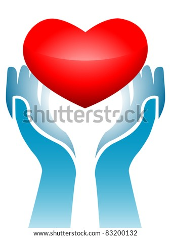 Image of hands holding heart up