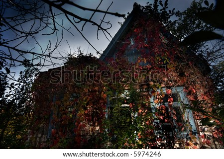 Image of Haunted house - good background for halloween cards
