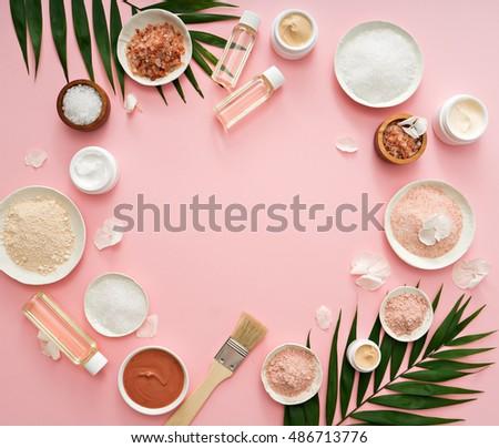 image of homemade cosmetics ingredients. aroma theme #486713776