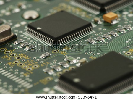 Image Of Integrated Circuits And Surface Mount Technology ...