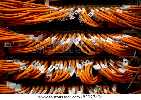 image of internet router network connectors