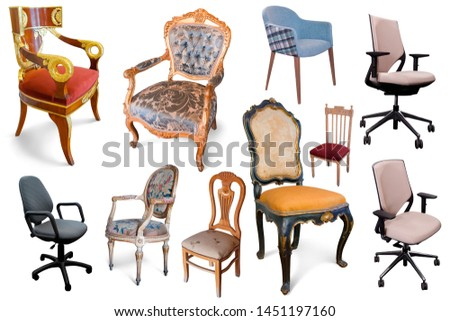 Image of isolated design armchairs on white  background #1451197160