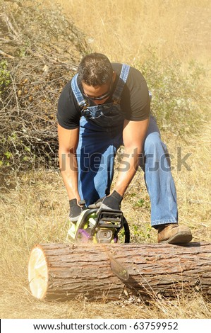 how to cut firewood with chainsaw