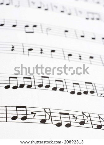 Image of music notes paper