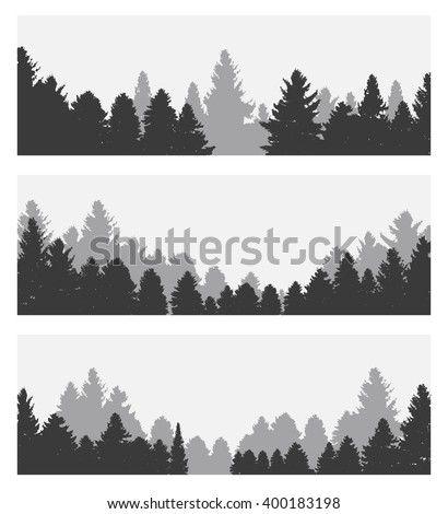 Image of Nature. Tree Silhouette. Illustration