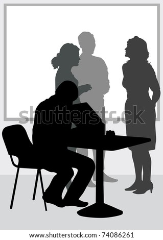 image of people in office of table
