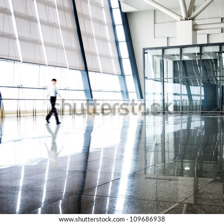 image of People silhouettes at morden office building #109686938