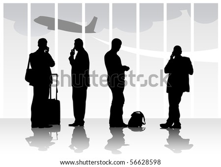 image of people with luggage in airport
