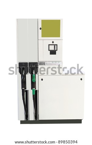 Image of petrol pump under the white background