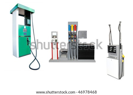 Image of petrol stations under the white background