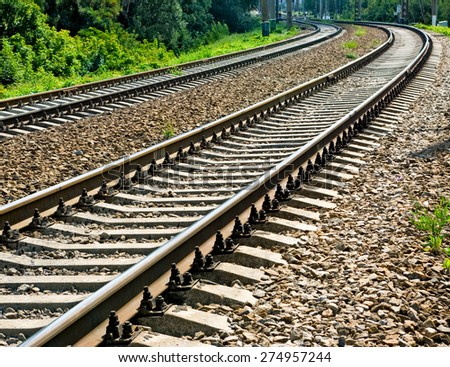 image of  railway tracks closeup #274957244