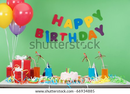 Image of room after birthday party