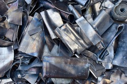 image of scrap metal for recycling, scrap lead ready to be melted and reused.